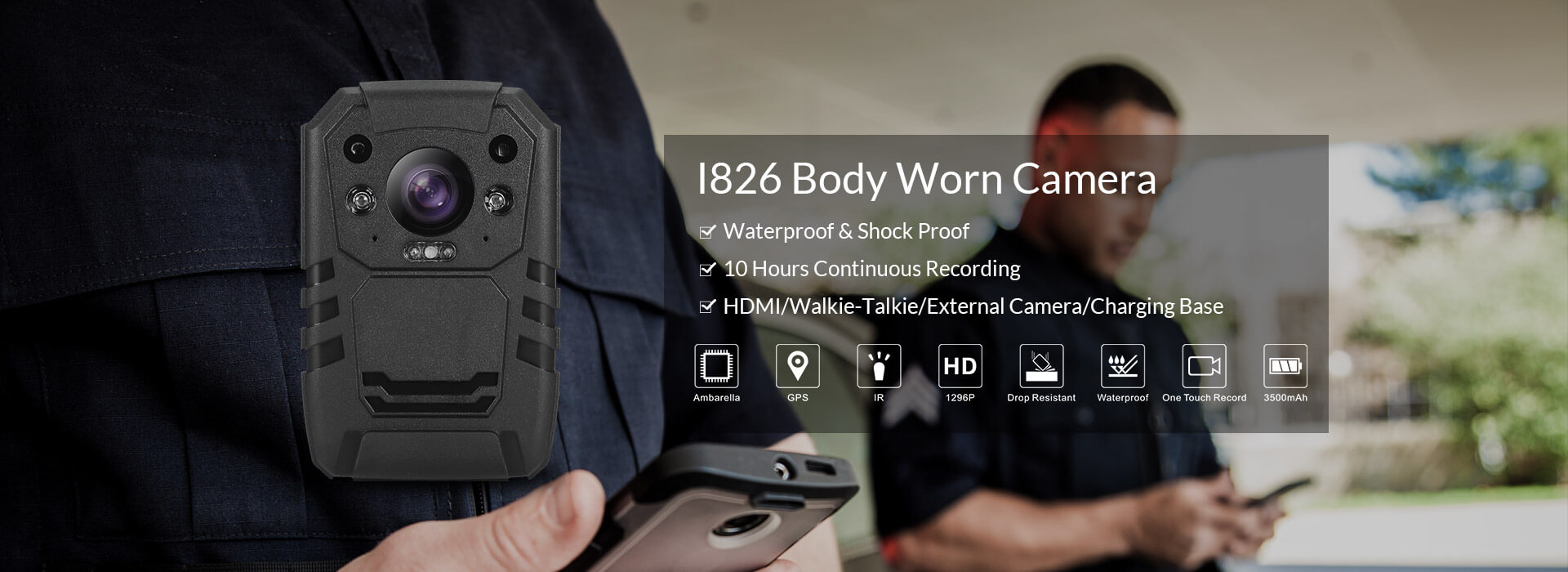I826 Body Worn Camera