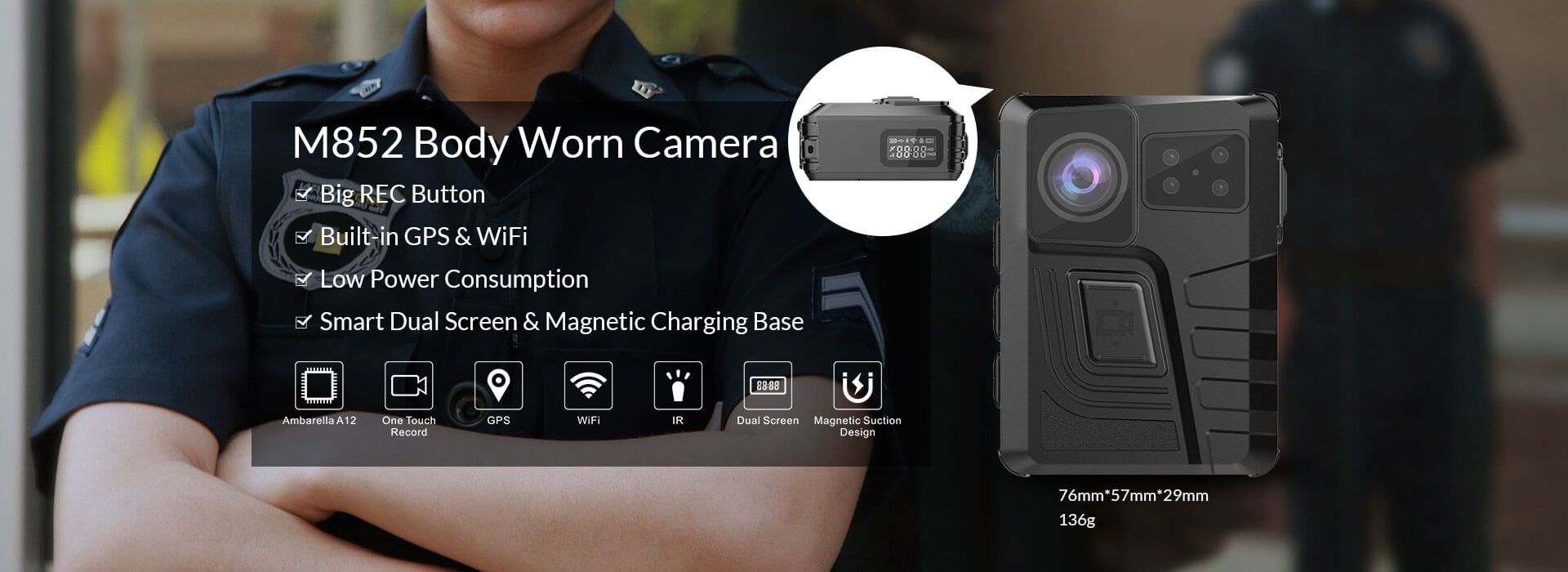 M852 Body Worn Camera