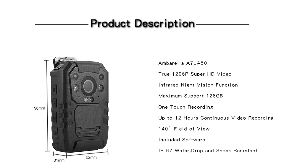 I826 Police Camera
