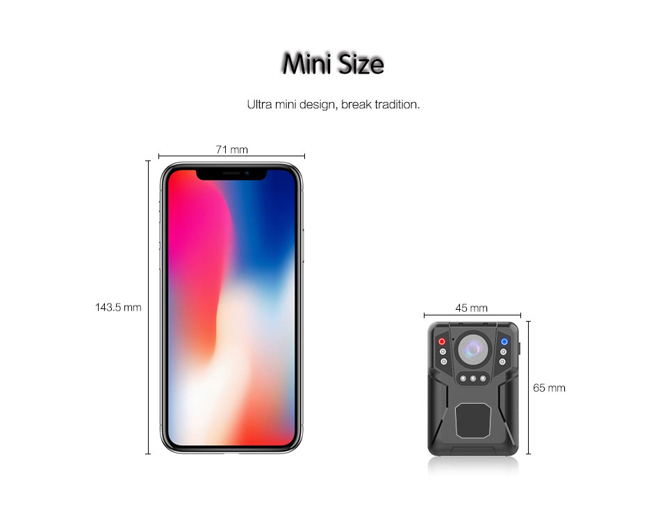 M1 Super Mini Body Camera