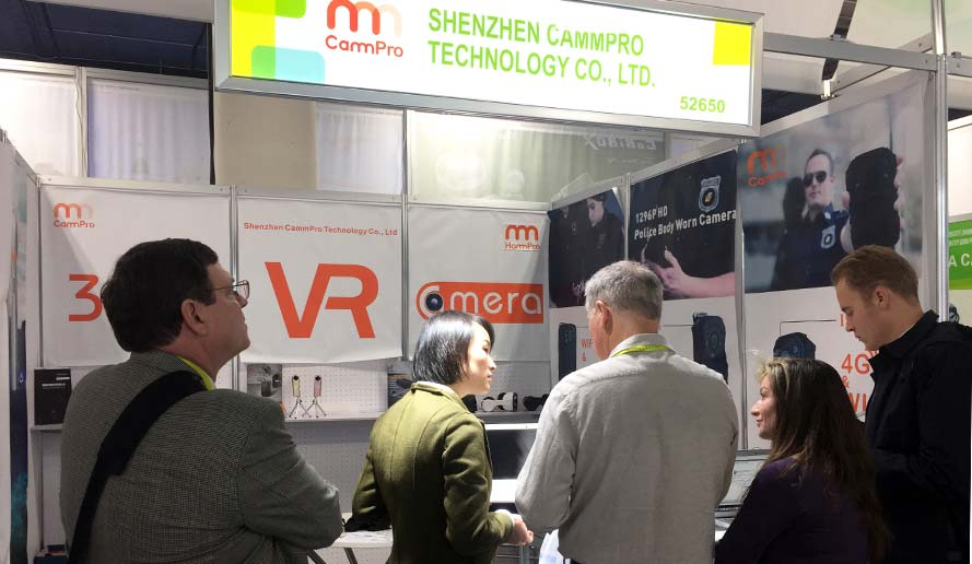 CammPro attended Security China exhibition, and in order to expand our business in North America, we also show in CES fair. Cammpro becames a regular body worn camera supplier of many governments this year, the annual revenue reached to 18 million US